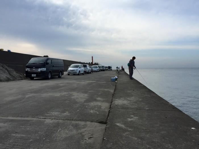 片貝漁港釣り6
