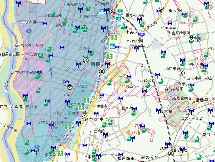 松戸市ハザードマップ