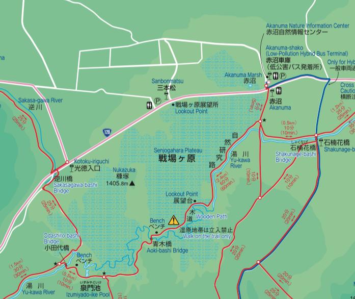 戦場ヶ原地図