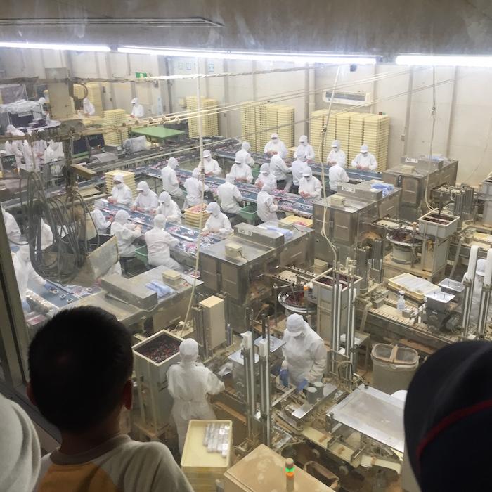 桔梗屋で信玄餅の工場見学7
