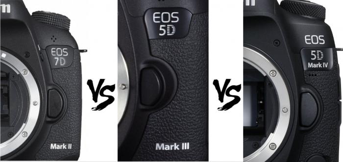 Canon 一眼レフカメラ 「EOS 7D Mark II」「5D Mark III」「5D Mark IV」のスペックを比較してみた